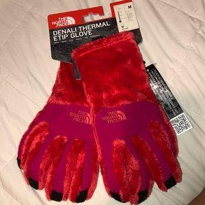 North face fleece gloves